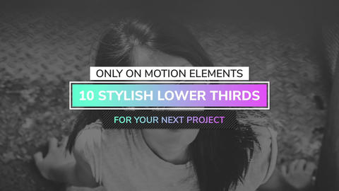 4K Modern Lower-Thirds After Effects Template