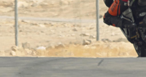 Slow motion of sport motorcycles at high speed during a race Footage