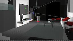 Living Room Cinema4D Model 3D Model