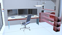 Working room 3D Model Cinema4d R19 3D Model