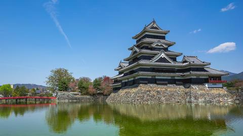 Video time lapse of Matsumoto Castle in Nagano, Japan Timelapse ビデオ