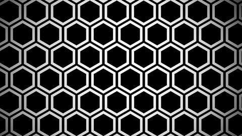 hexagon line Stock Video Footage