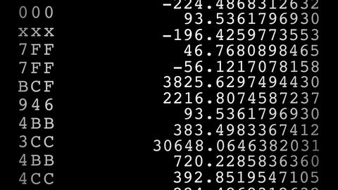 random numbers Stock Video Footage