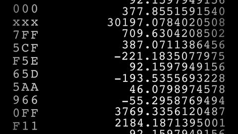 random numbers Animation