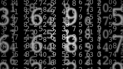 matrix numbers Animation