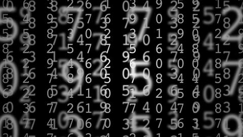 matrix numbers Stock Video Footage