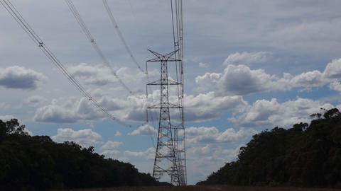 Electicity Power Line Stock Video Footage