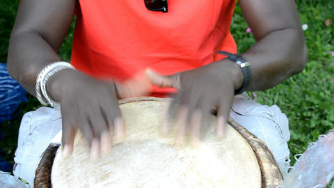 African musicians Stock Video Footage