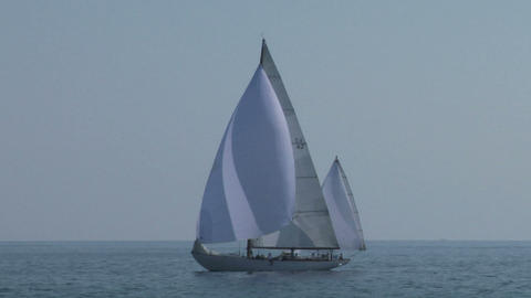 old sail 01 Stock Video Footage
