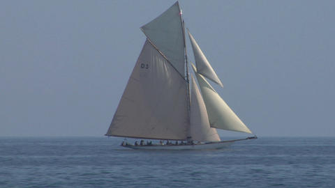 old sail 03 Stock Video Footage