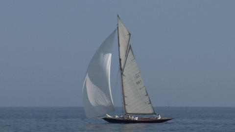 old sail 05 Stock Video Footage
