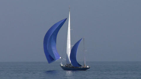 old sail 07 Stock Video Footage