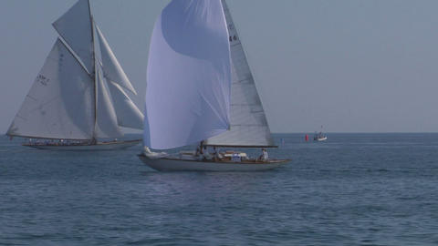 old sail 09 Stock Video Footage