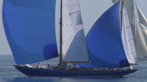 old sail close up 08 e Stock Video Footage