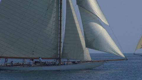 old sail close up 11 e Stock Video Footage