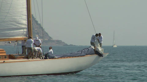 old sail crew 02 e Stock Video Footage
