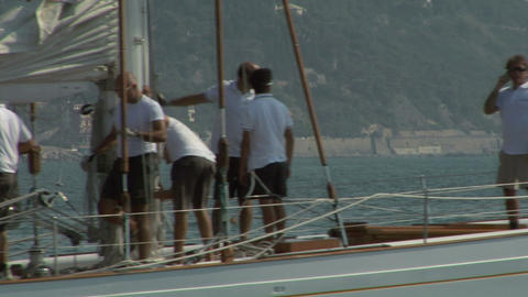 old sail crew 04 e Stock Video Footage
