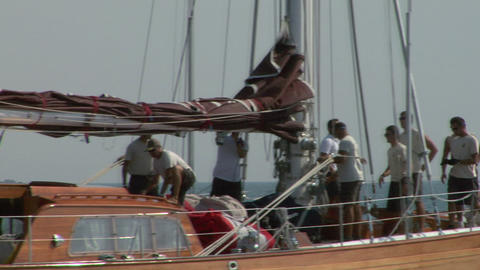 old sail crew 06 e Stock Video Footage