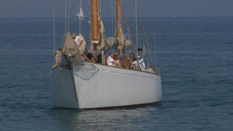 old sail crew 08 e Stock Video Footage