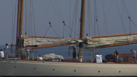 old sail crew 10 e Stock Video Footage
