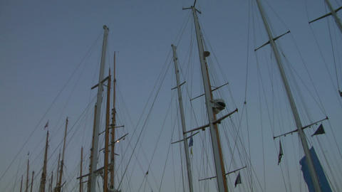 old sail mast 01 Stock Video Footage