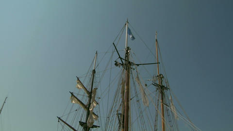 old sail mast 03 Stock Video Footage
