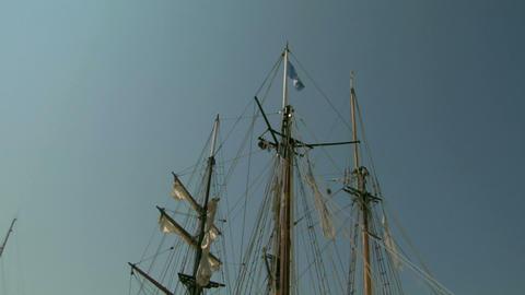 old sail mast 03 Stock Video Footage