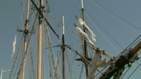 old sail mast 05 Stock Video Footage