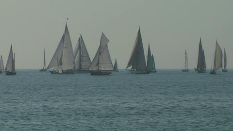 old sail regatta 03 Stock Video Footage
