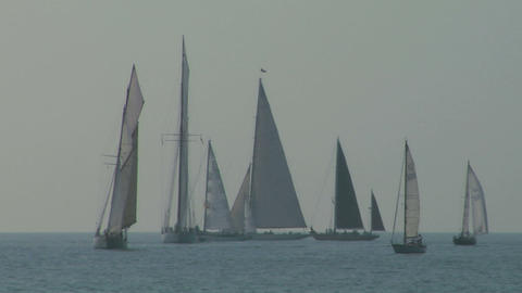 old sail regatta 09 Stock Video Footage