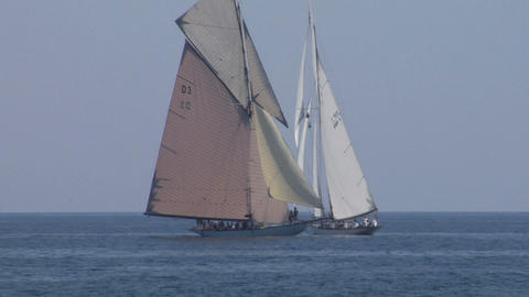 old sail regatta 21 Stock Video Footage