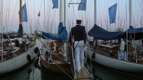 old sail wharf 01 e Stock Video Footage