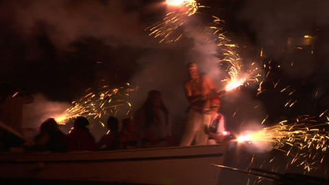 pirates landing 07 e Stock Video Footage