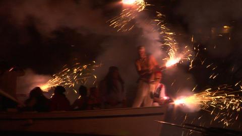 pirates landing 07 e Stock Video Footage