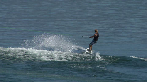 wakeboard 21 e Stock Video Footage