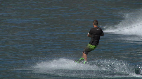 wakeboard 33 e Stock Video Footage