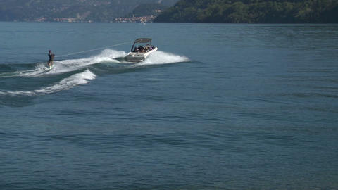 wakeboard 42 e Stock Video Footage
