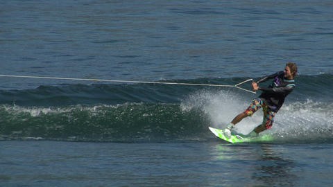 wakeboard 44 e Stock Video Footage