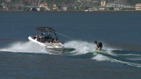 wakeboard 46 e Stock Video Footage