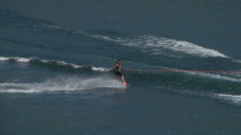 wakeboard 52 e Stock Video Footage