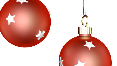Red Xmas Ornaments Zoom Stock Video Footage