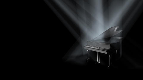 Piano on Stage Loop (HD) Stock Video Footage