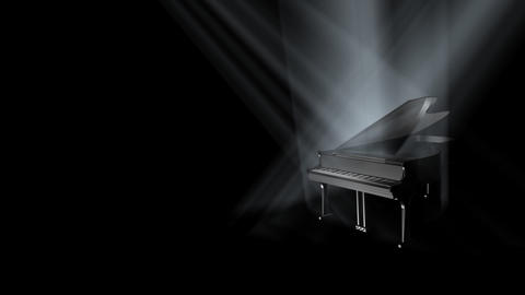 Piano on Stage Loop (HD) Animation