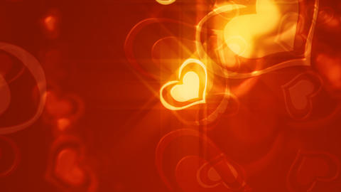Loopable shine Valentine background Stock Video Footage