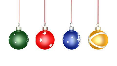 Christmas Ball Loop Stock Video Footage