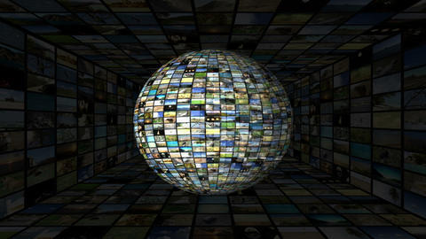 Multimedia Globe 04 Stock Video Footage