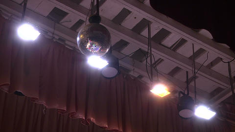 theater lights Stock Video Footage