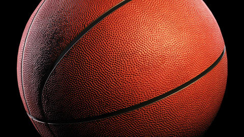 Basketball, Rotation On Black Background, Loop stock footage