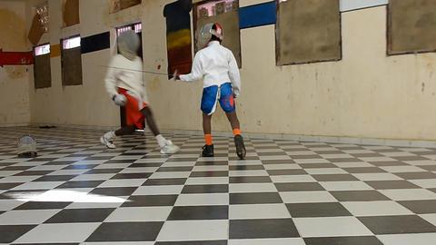 fencing gym Footage