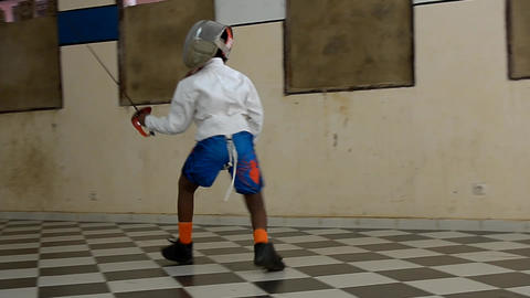 fencing gym Footage